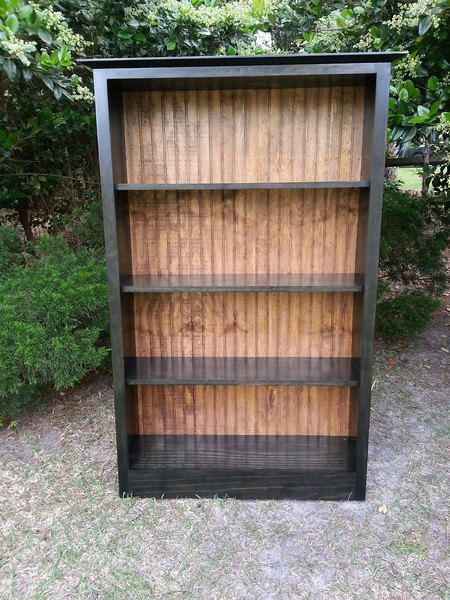 Bookcase Solid Wood Bookcase With Bead Board Back