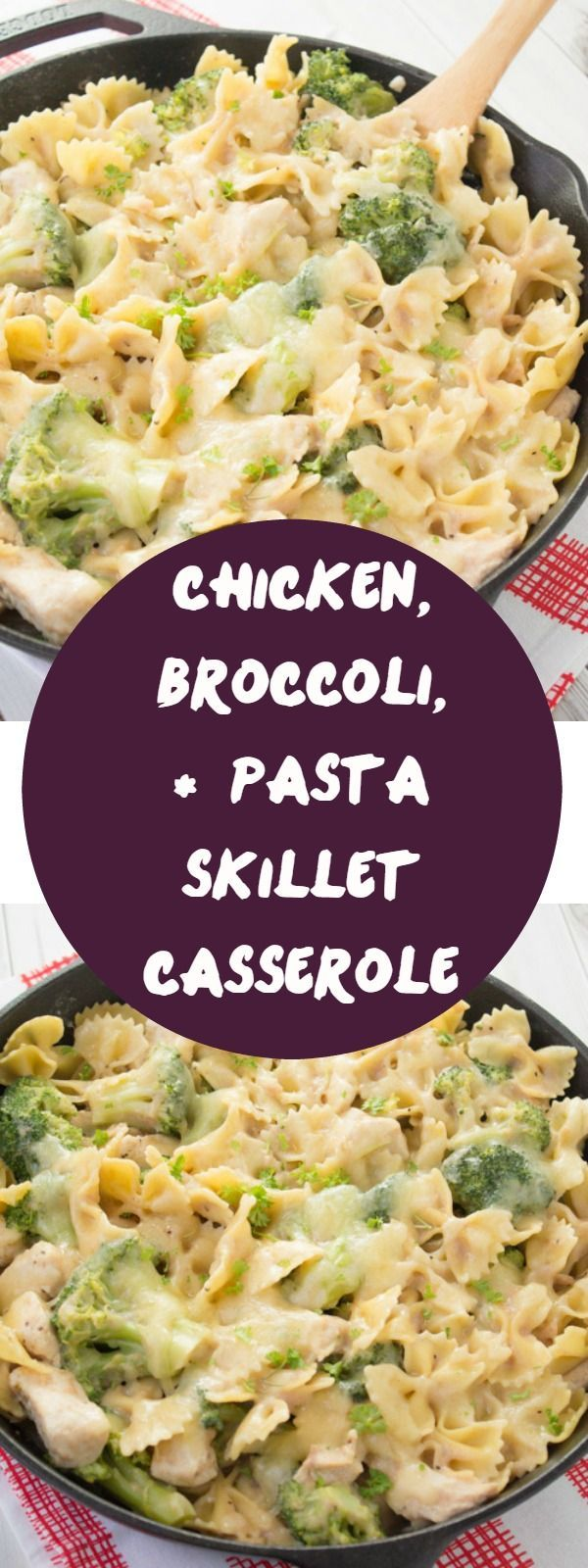 If you are a fan of pasta recipes, then you are going to love this chicken pasta casserole! It's packed with broccoli, pasta,