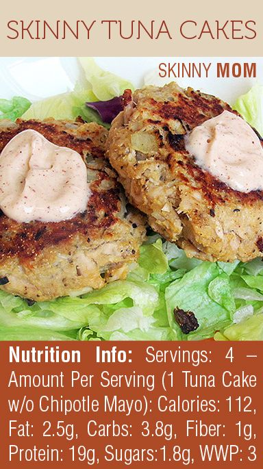 LOVING this recipe for Skinny Tuna Cakes! So light but filling at 112 calories p