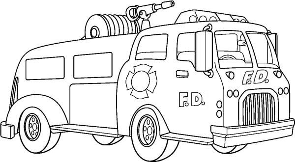 fire trucks canon and coloring pages on pinterest