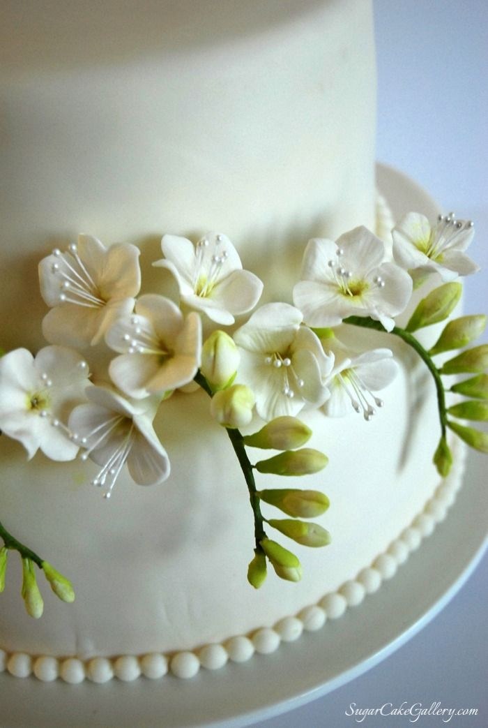 Freesia Cake Topperjpg 7001043 Sugarflowers Pinterest