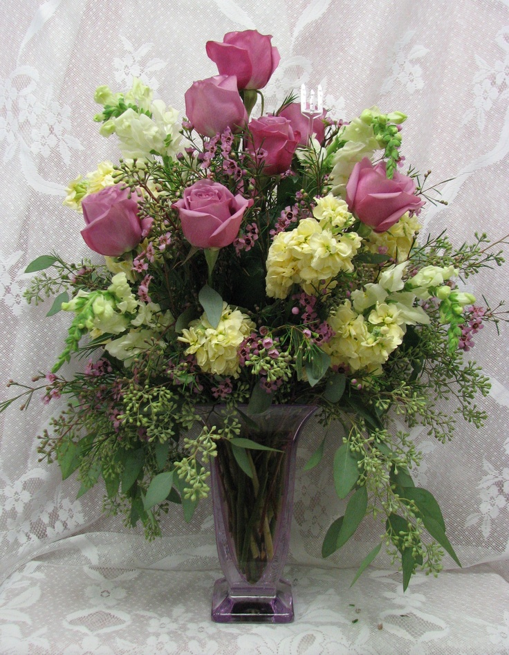 Anniversary Flowers Church Floral Arrangements