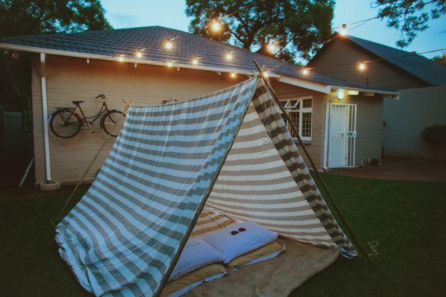 A romantic date idea: build a tent in your backyard! Its kinda creepy how simila
