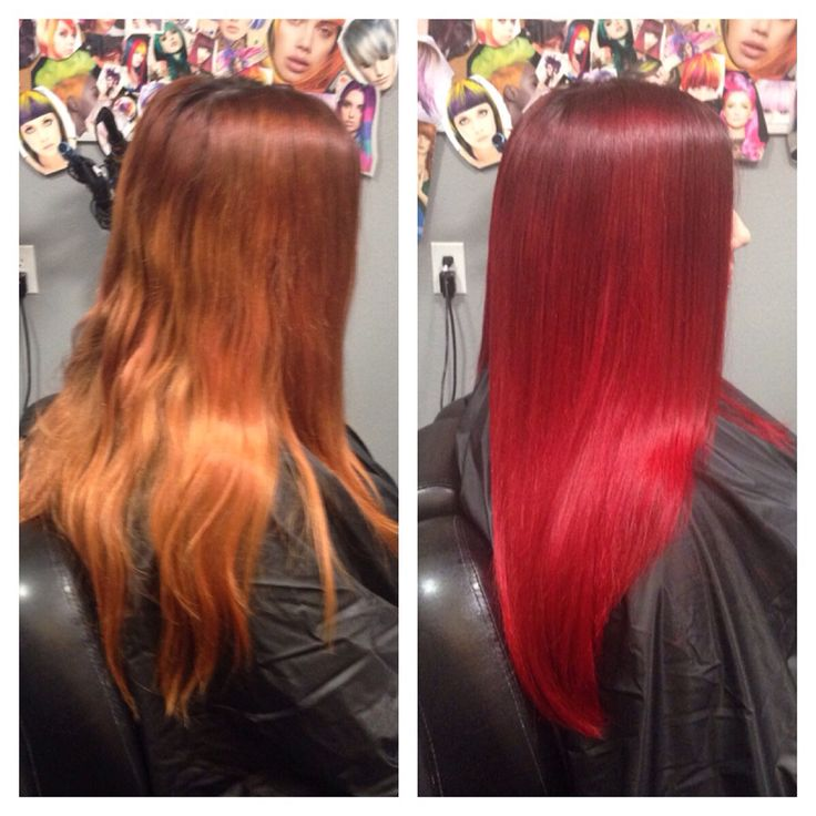 Pravana Locked In Red With A Darker Red Root Shade