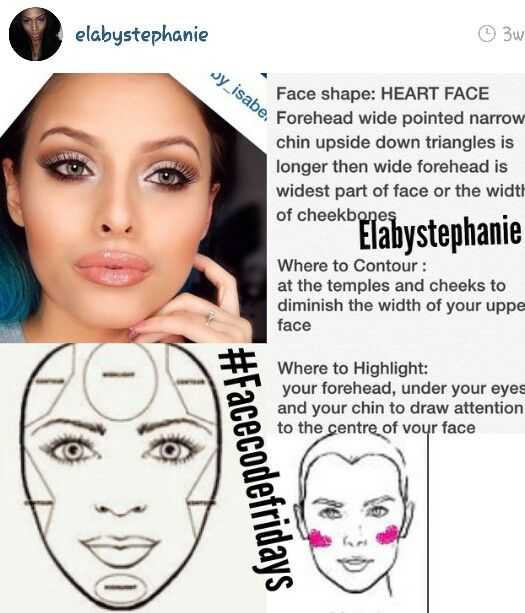Eye Makeup For Heart Shaped Face Makeupview