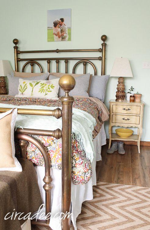 Bedroom Styling Vintage Br Bed Ticking Shams French Provincial Furniture