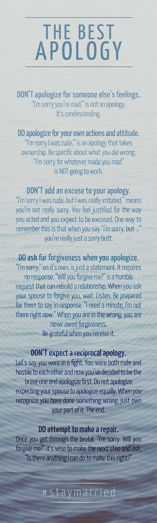 The Best Apology – How to say sorry like you mean it. #staymarried