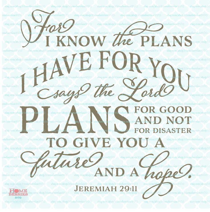 Download Jeremiah 29 11 Bible Verse svg Religious svg Christian svg ...