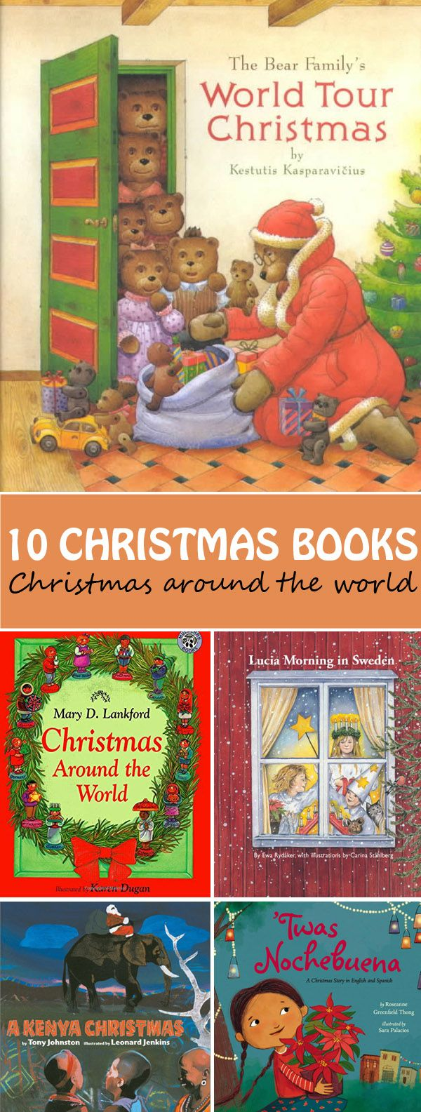 10 Christmas books for kids. Learn about the Christmas