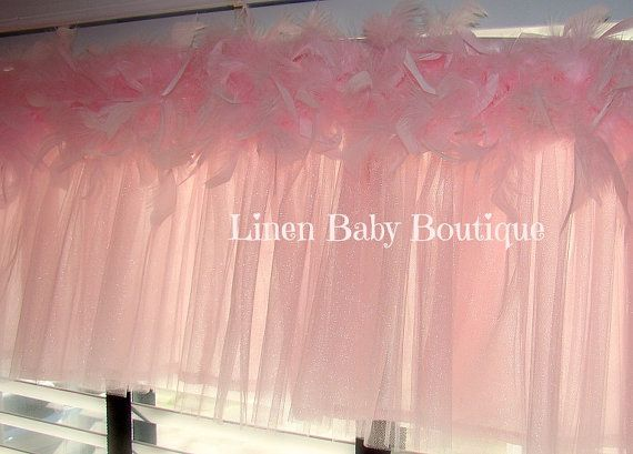 Tulle Window Valance Topper Pink Tulle And Feather By LinenBaby For Baby Pinterest Pink