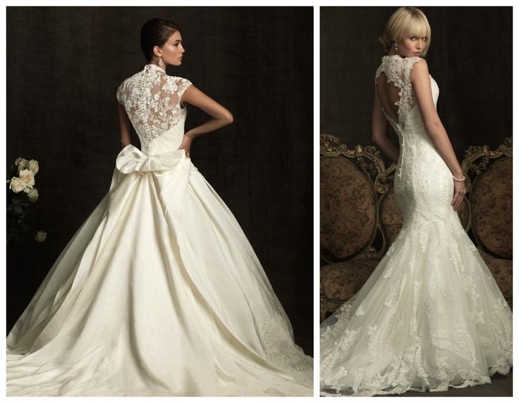 Vintage Lace Open Wedding Dress
