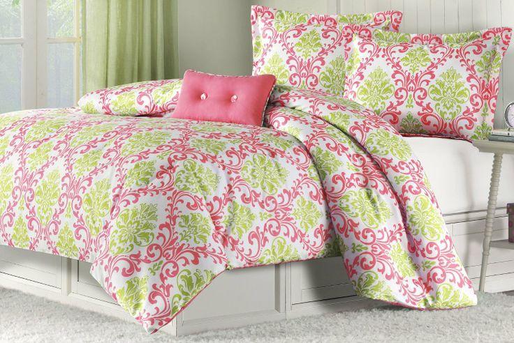 Amazon Com Katelyn Coral Teen Comforter Set Size Twin