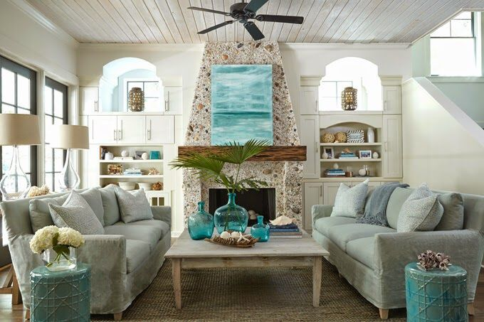 Gray Slipcovered Sofas