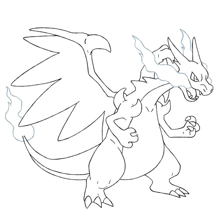 mega charizard x coloring pages  pokemon party