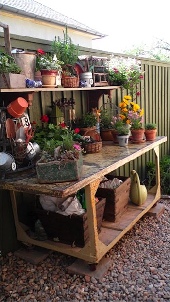 Everyone Needs A Potting Bench Or Area No Matter How