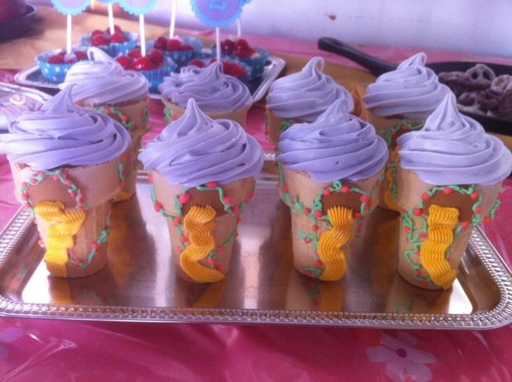 Rapunzel Tower Mini Cupcakes Birthday Pinterest