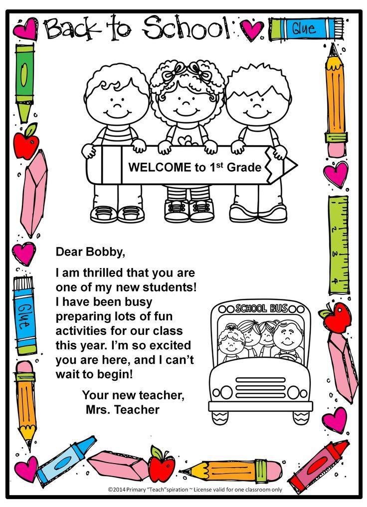 FREE Backtoschool letter and postcard {Editable