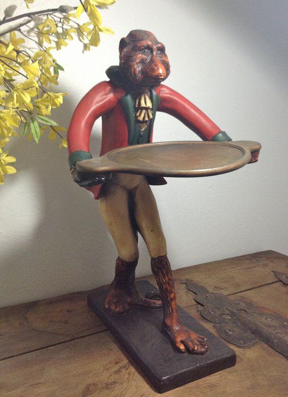 Vintage Bill Huebbe Monkey Red Coat Butler Coats Red