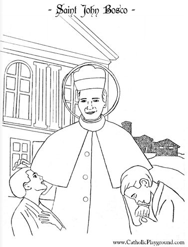 coloring book ~ Catholic Saints Coloring Pages For Kids At ... | 496x377