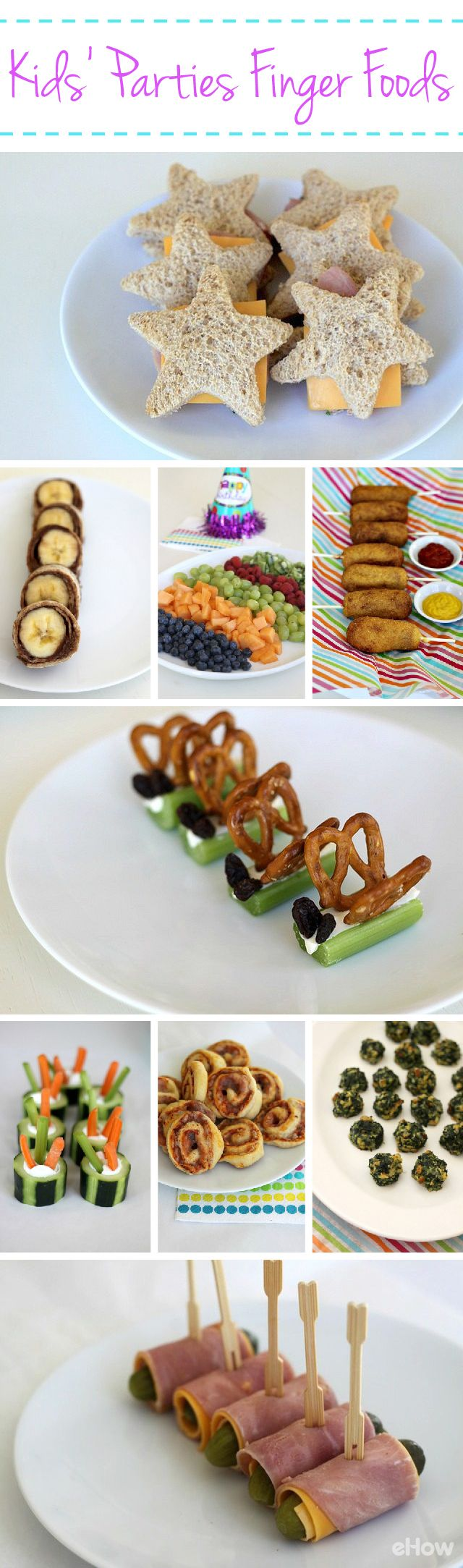 Finger Foods for Kids' Parties Wraps, Sushi and Cheese