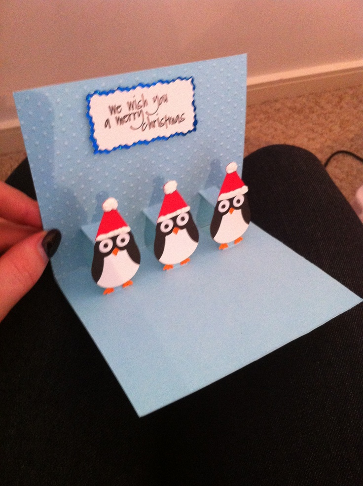 Pop Up Penguin Card Inside My Cards Pinterest