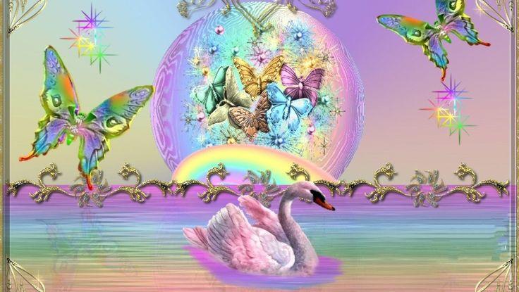 Unicorns Rainbows And Butterflies Background Rainbows
