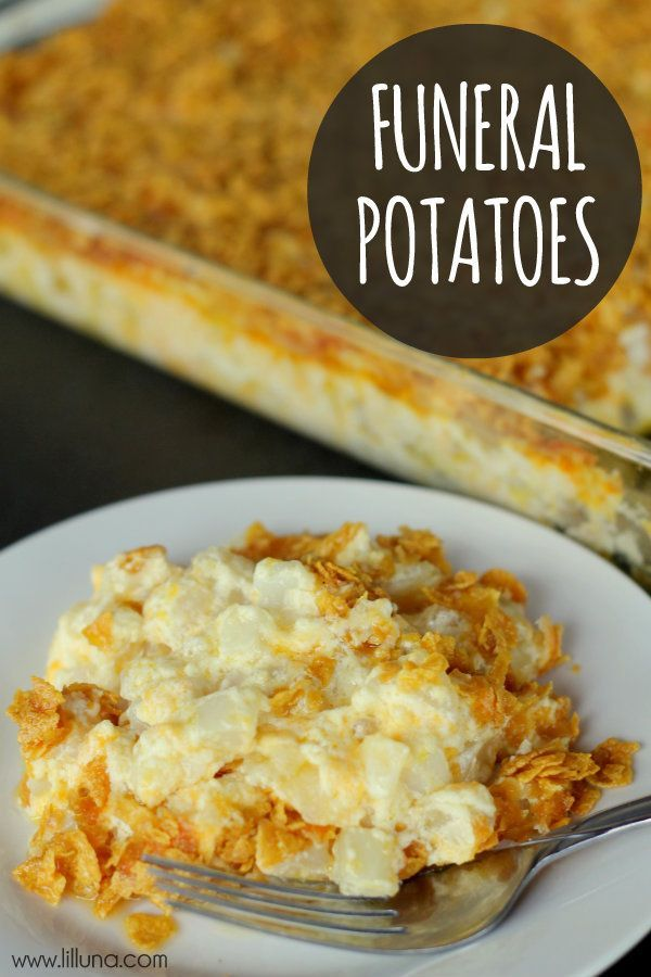 Funeral Potatoes Recipe – You can substitute the Cream of Chicken soup for Cream of Mushroom to make it vegetarian. This is a potluck pleaser for our monthly potlucks at work! It also cooks great in a