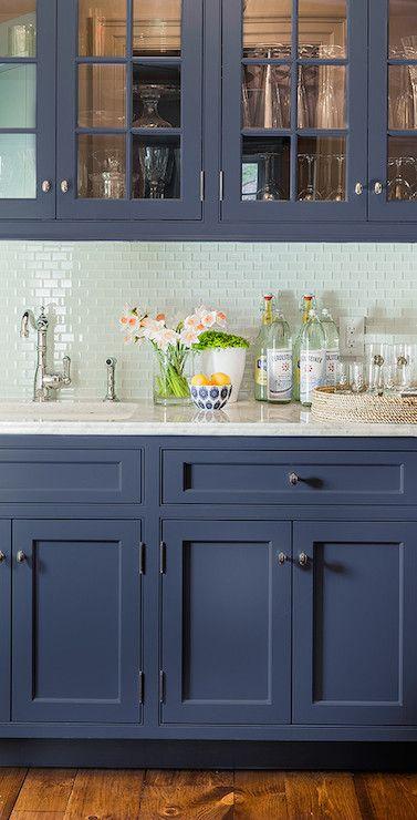 White mini glass subway tile backsplash in modern kitchen. www.subwaytileout…
