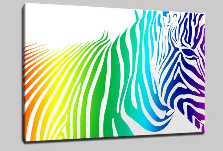 Details About ABSTRACT ZEBRA CANVAS PRINT ART WALL DESIGN