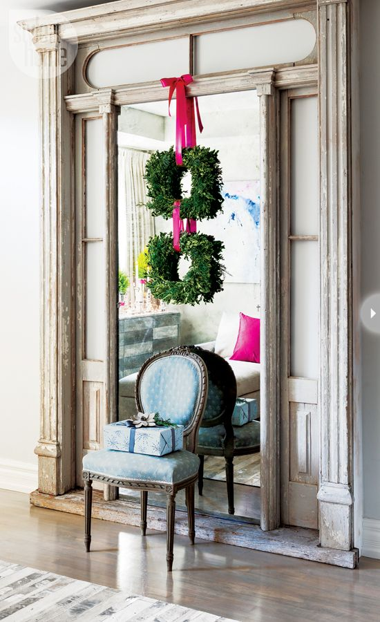 holiday decorating inspiration: pink and gray Style at Home — The Decorista: