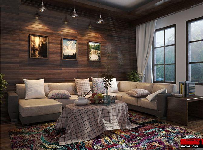 "3ds Max Tutorial : Rendering "" Morning At Living Room"