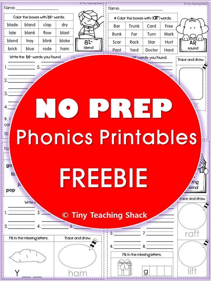 Phonics No Prep Printables Cvc Cvc3 Cvcc Beginning