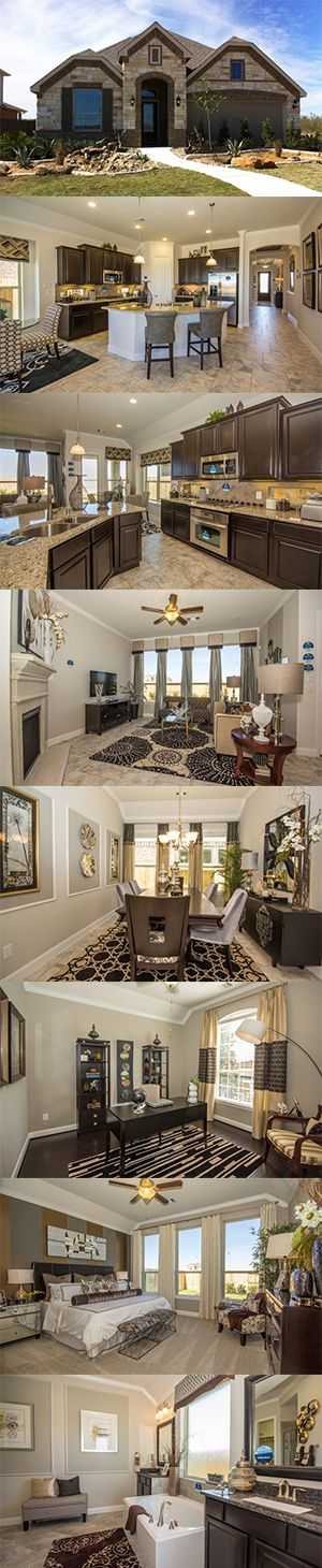 The Whitney from @lennarsa has a beautiful kitchen, living space, dining room, study, Master Suite and two additional bedrooms!:
