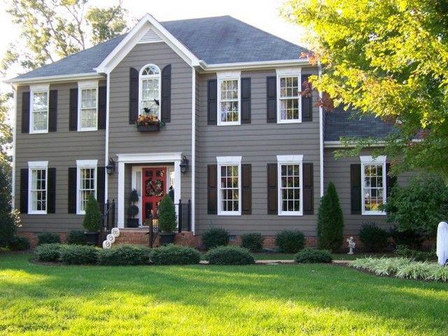 Best Gray Exterior Paint Colors Trendy Painted Brick