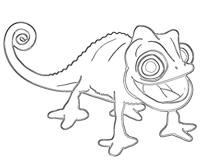 chameleons tangled and coloring pages on pinterest