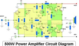 500W Power Amplifier Circuit Diagram | Dol | Pinterest