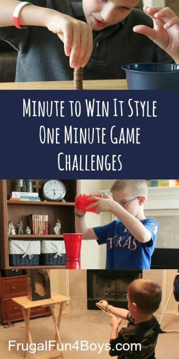 Family Game Night: Minute to Win It One Minute Challenges - This would be so fun to do with friends over!:
