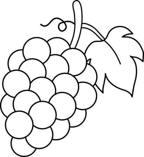 Fruit Clip Art Black And Whitegrapes Black And White