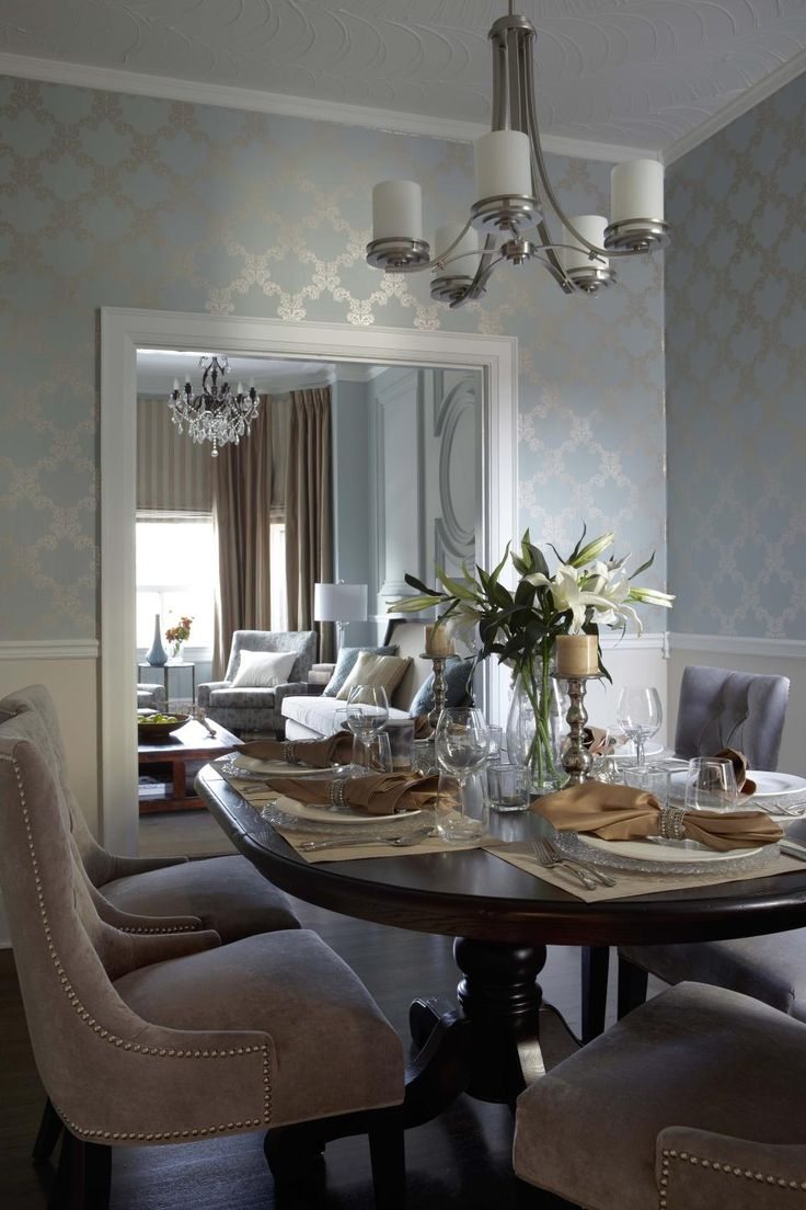 Contemporary Transitional French Country Dining Room Design Photo by LUX Design Album – Residential Design, Shaw