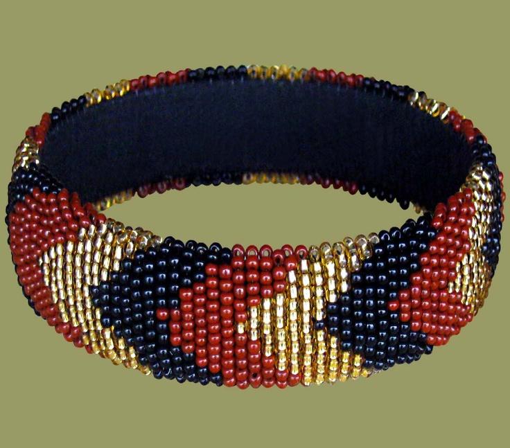 South African bead bracelet Bracelet Pinterest
