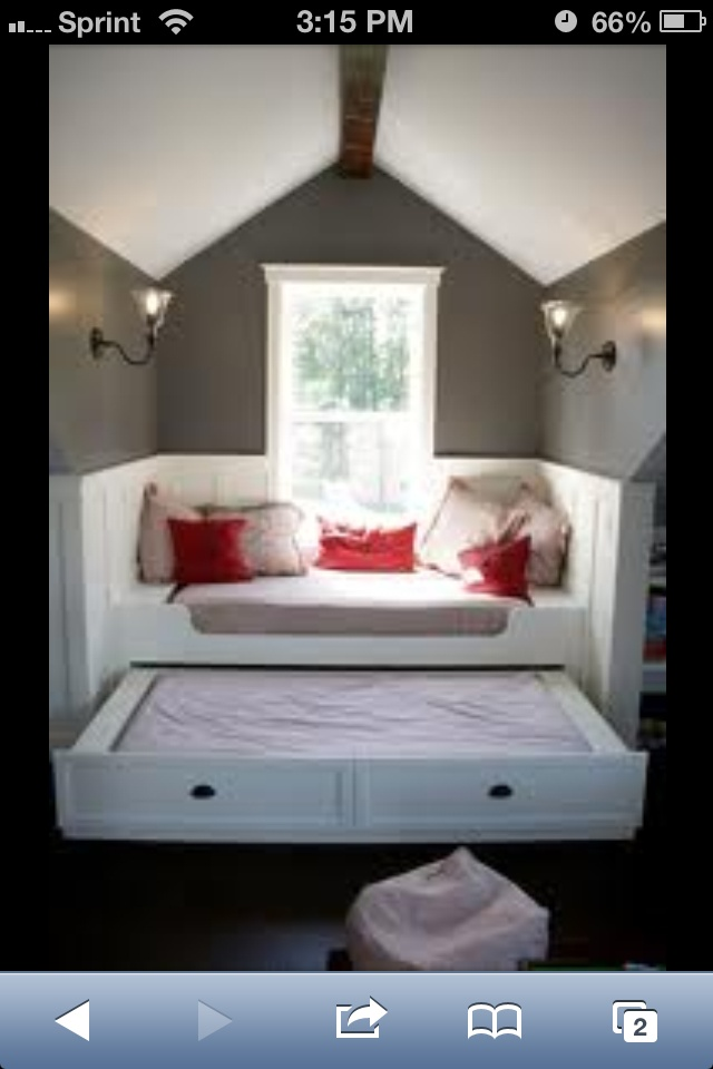 Window Seat Amp Trundle Bed Playroom Pinterest Window