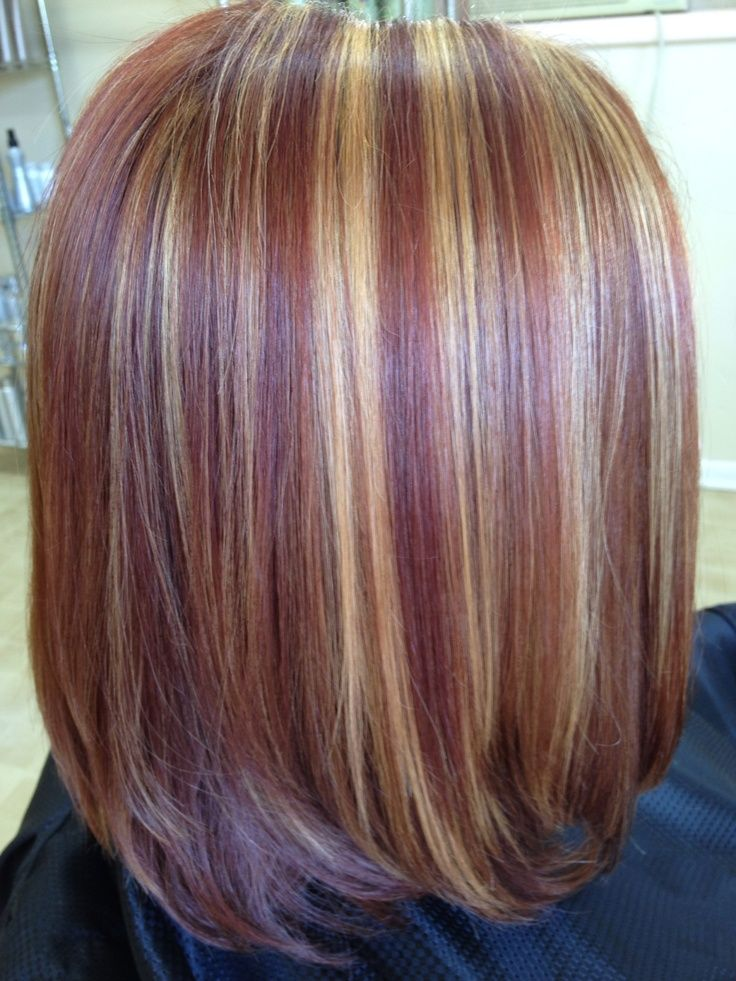 Copper And Blonde Highlights Pics Bing Images Beauty