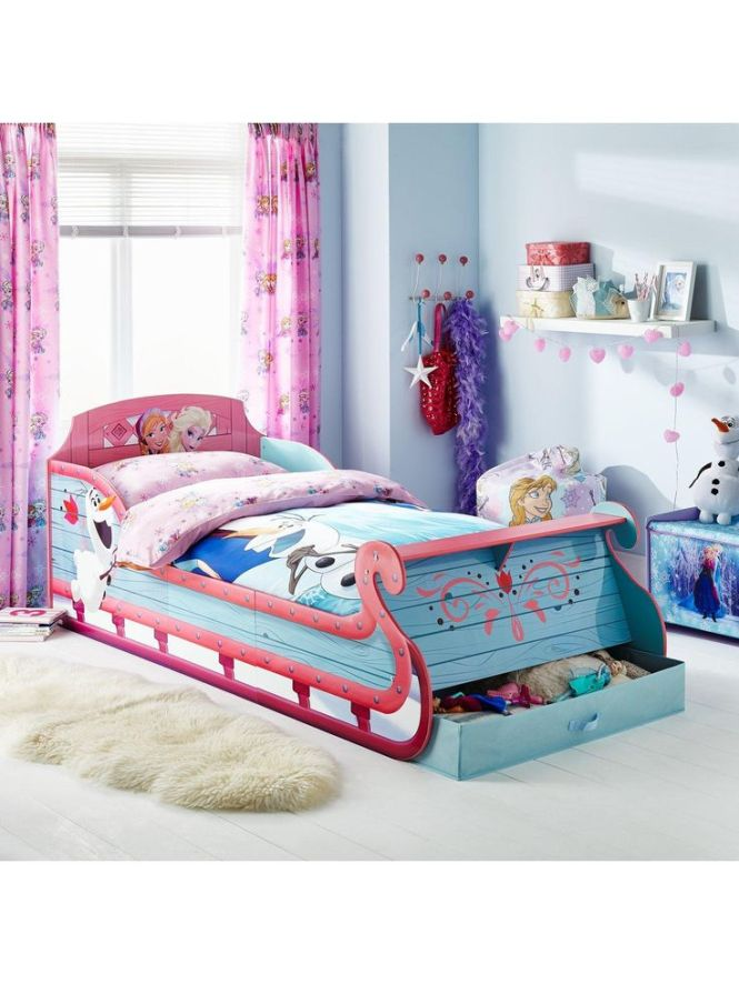 Disney Frozen Sleigh Bed Frame With Optional Mattress Very Co Uk