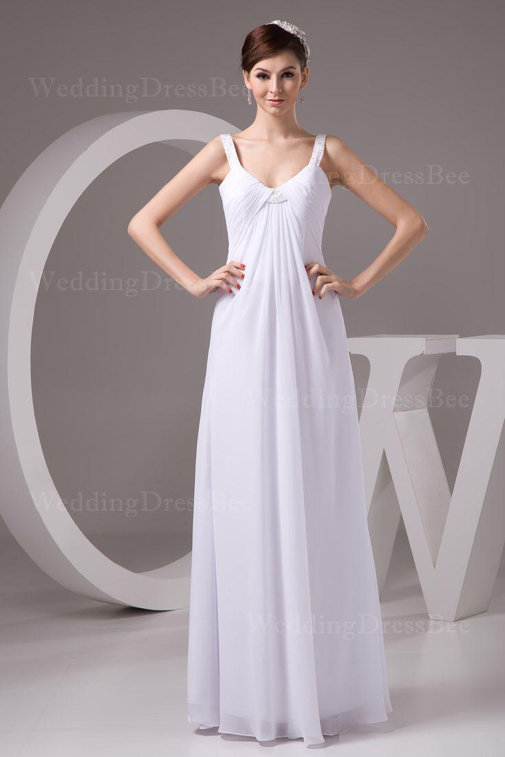 Elegant V-neck chiffon lady dress