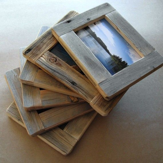 Our solid wood frames are handcrafted here on Paradise Hill from weathered aged wood which we have reclaimed ourselves from old