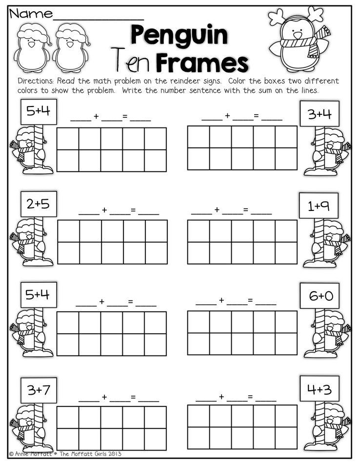 Penguin 10 Frames!