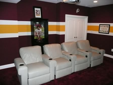 Redskins Wall Paint Burgundy Amp Gold At Home