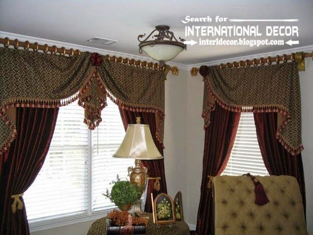Stylish Country Curtains For Living Room In English Style