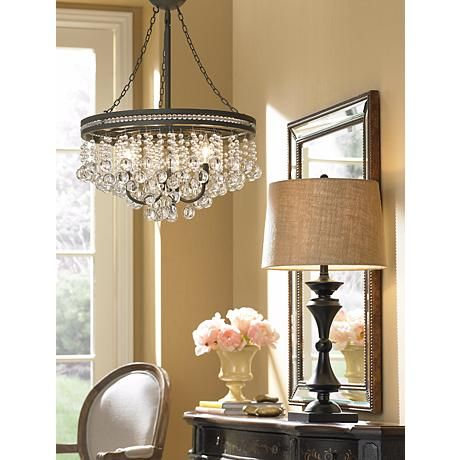 Regina Olive Bronze 19 Quot Wide Crystal Chandelier Olives
