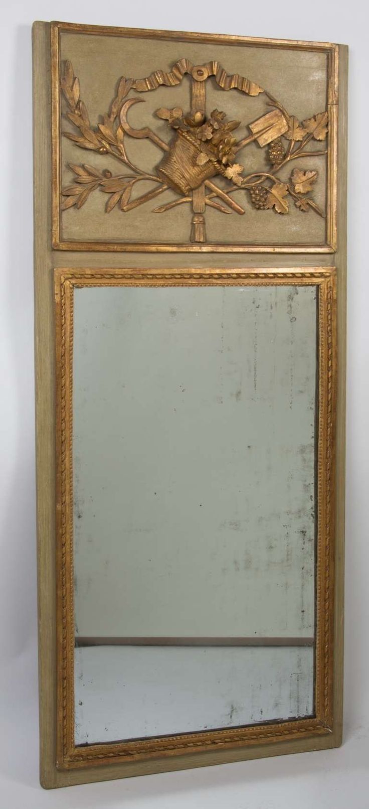 A French Louis XVI Style Trumeau Mirror French Country Decorating And Painted Mirrors
